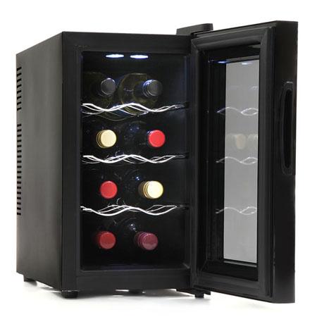 ペルチェ式 8本収納 電子ワインセラー「ワイン庫 スリムサイズ」 SR-W208K