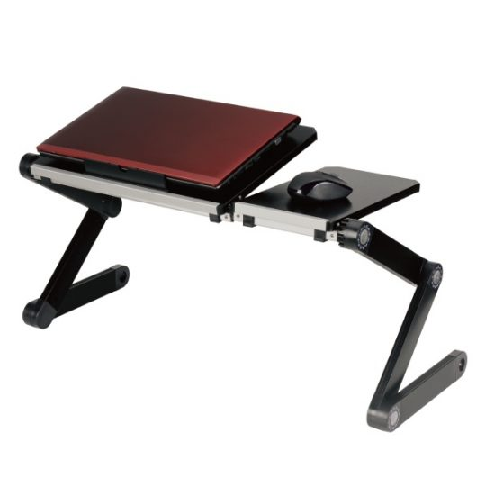 ノートパソコン用冷却ファン付 折りたたみテーブル SR-T5A
